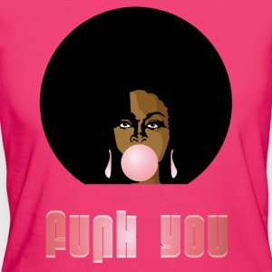 Funk You 70's Retro Bubblegum Afro Queen - Vrouwen Bio-T-shirt