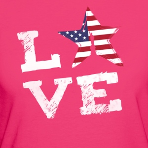 Love usa america holiday flag freedom statue ste - Women's Organic T-shirt