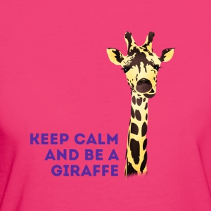giraffe Keep Calm neck long africa animal cute - Women's Organic T-shirt