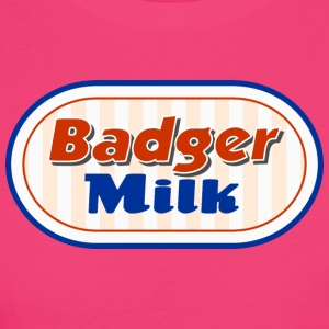 Badger Latte Logo - T-shirt ecologica da donna