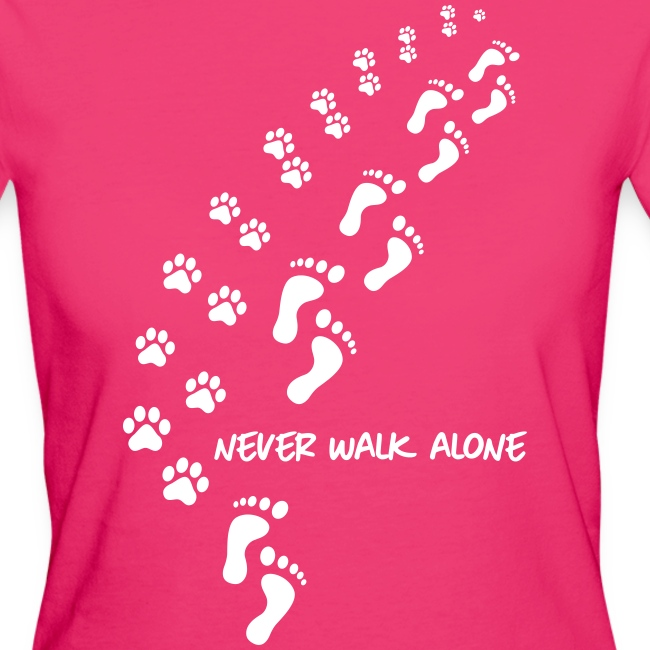 Vorschau: never walk alone dog - Frauen Bio-T-Shirt