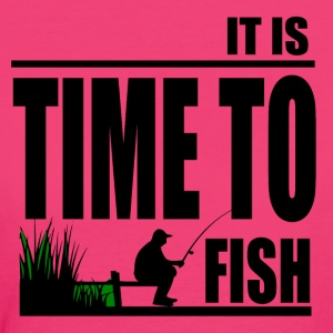 Time to Fish - Fishing - Frauen Bio-T-Shirt