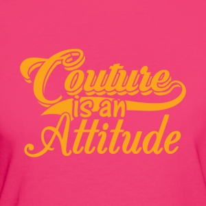 Couture is een Attitude - Gold - Vrouwen Bio-T-shirt