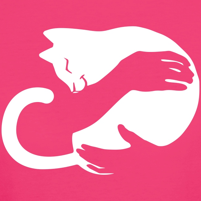 Vorschau: cat hug - Frauen Bio-T-Shirt
