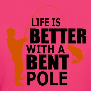 Bent Pole - Fishing - Frauen Bio-T-Shirt