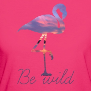 FLAMINGO BE WILD - Frauen Bio-T-Shirt