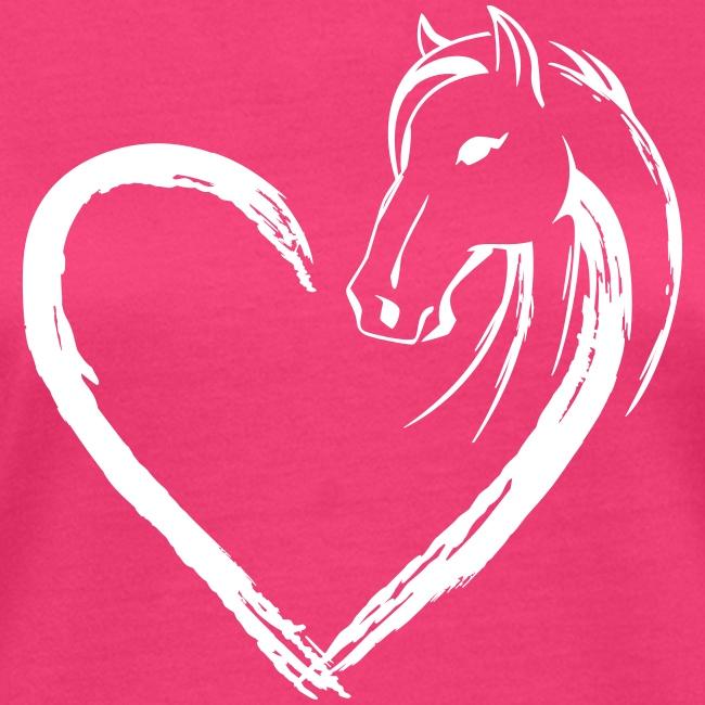 Vorschau: Pferde Herz - Frauen Bio-T-Shirt