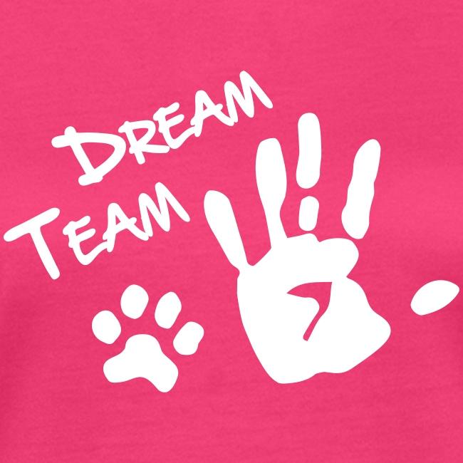 Vorschau: Dream Team Hand Hundpfote - Frauen Bio-T-Shirt