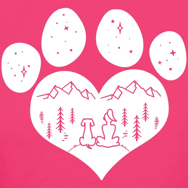 Vorschau: dog girl outdoor pawheart - Frauen Bio-T-Shirt