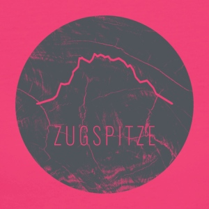 Zugspitze contour on wooden plate - Women's Organic T-shirt