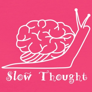 Slow Thought (wit) - Vrouwen Bio-T-shirt
