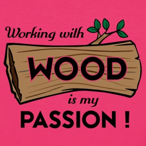 Passion-Design Wood - Frauen Bio-T-Shirt