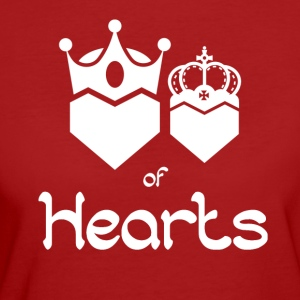 King and Queen of Hearts - Frauen Bio-T-Shirt