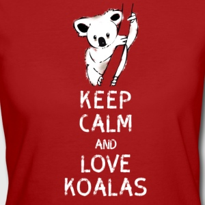 Koala keep calm love koalas bear tree nap nerd geek - Women's Organic T-shirt