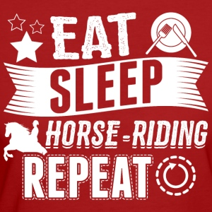 horse riding EAT SLEEP Reiten Reiter - Frauen Bio-T-Shirt
