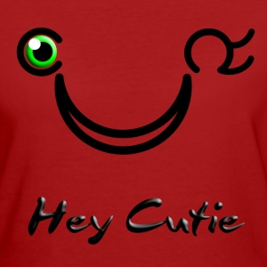 Hey Cutie Green Eye Wink - Women's Organic T-shirt
