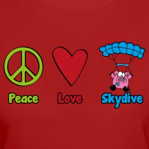 Peace Love Skydive - Vrouwen Bio-T-shirt