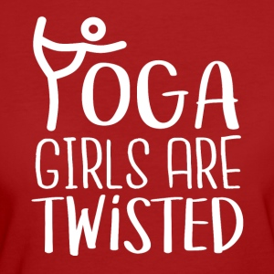 YOGA girls are twisted - Women's Organic T-shirt