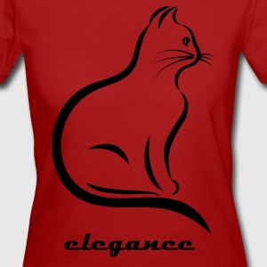 Elegance cat - Women's Organic T-shirt