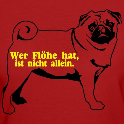 Für Hundefreunde zum Thema Floh - Frauen Bio-T-Shirt