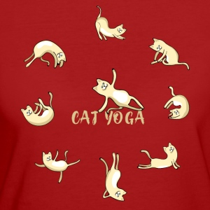 cat yoga chat namaste mignon méditation om lotu - T-shirt Bio Femme