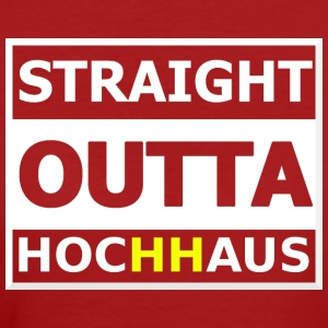 Straight Outta Hochhaus HH YELLOW - Women's Organic T-shirt