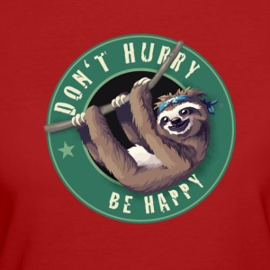 Sloth Starbucks Button lata kul Humor LOL chill - Ekologisk T-shirt dam