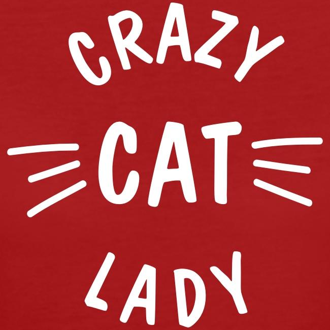Vorschau: Crazy Cat Lady meow - Frauen Bio-T-Shirt