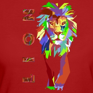 pop art Lion (ms) - T-shirt Bio Femme