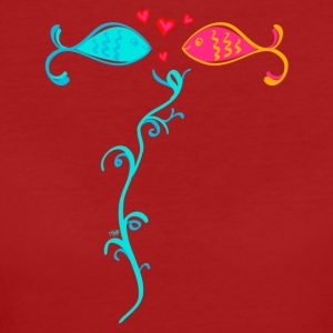 fell in love fish - Women's Organic T-shirt