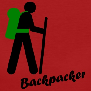 Backpacker, traveling with backpack - Women's Organic T-shirt