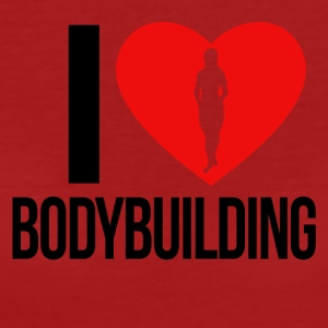 I LOVE BODYBUILDING WOMEN - Frauen Bio-T-Shirt
