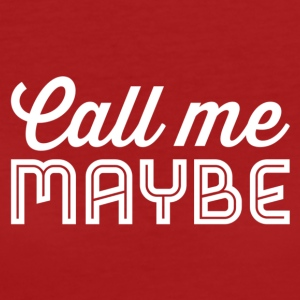 Call Me Maybe wit - Vrouwen Bio-T-shirt