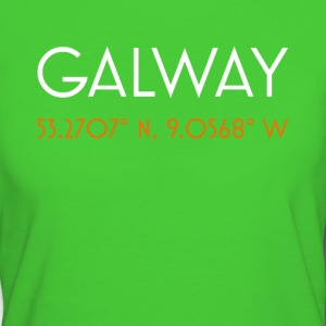 Le coordinate minimaliste di Galway Ireland - T-shirt ecologica da donna