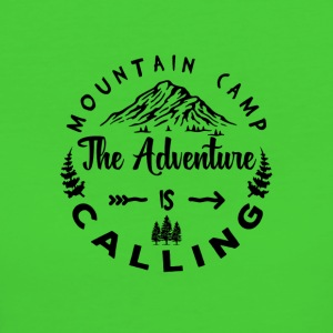 Mountain Camp The Adventure is Calling - Frauen Bio-T-Shirt