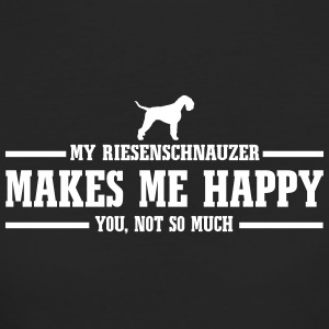 RIESENSCHNAUZER makes me happy - Frauen Bio-T-Shirt