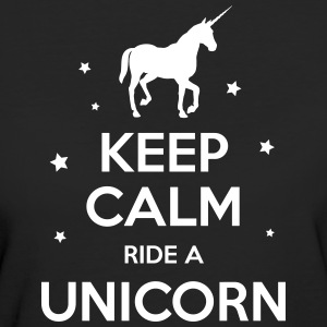Unicorn - Keep Calm Ride A Unicorn - Women's Organic T-shirt