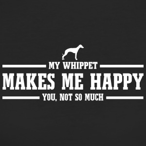 WHIPPET makes me happy - Frauen Bio-T-Shirt