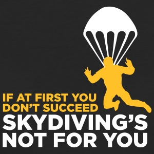 Skydiving Is Not For The Unlucky Ones! - Women's Organic T-shirt