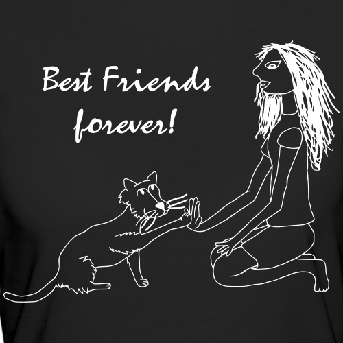 Best Friends Katzenliebe - Frauen Bio-T-Shirt