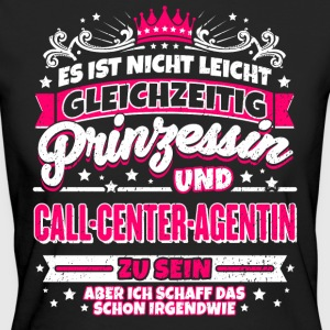 Prinzessin und Call-Center-Agentin - Frauen Bio-T-Shirt
