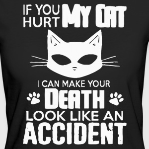 If you hurt my cat - Women's Organic T-shirt