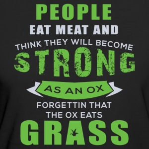 Cattle eat grass - Women's Organic T-shirt