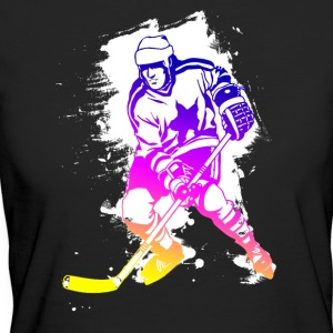 hockey rainbow spatter hockey player tor cool - Women's Organic T-shirt