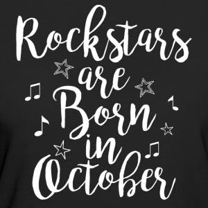 Rockstars are born in October - Women's Organic T-shirt