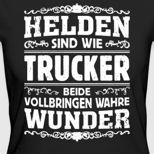 Trucker - Helden - Frauen Bio-T-Shirt