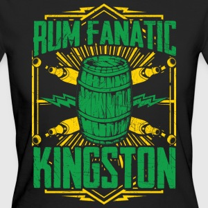 T-shirt Rum Fanatic - Kingston, Giamaica - T-shirt ecologica da donna