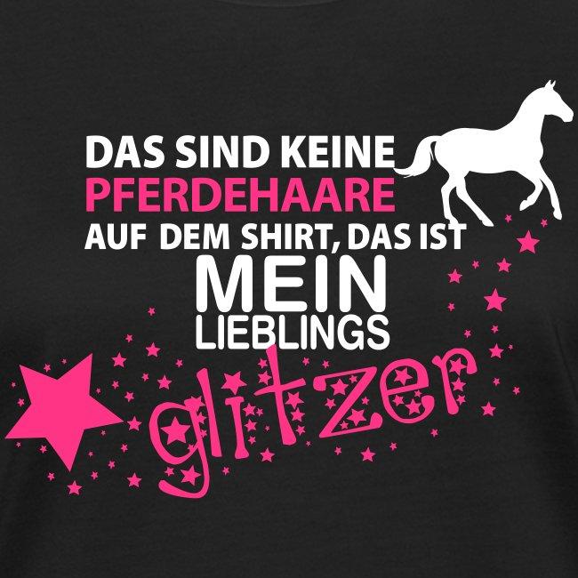 Vorschau: Glitzer Pferd - Frauen Bio-T-Shirt