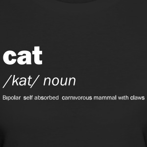 Cat definition and meaning - Funny - Women's Organic T-shirt