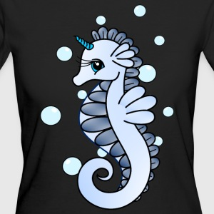 Seahorse with horn - Women's Organic T-shirt